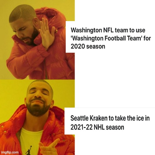 Insert Team Name Here | image tagged in drake blank,hockey,football | made w/ Imgflip meme maker