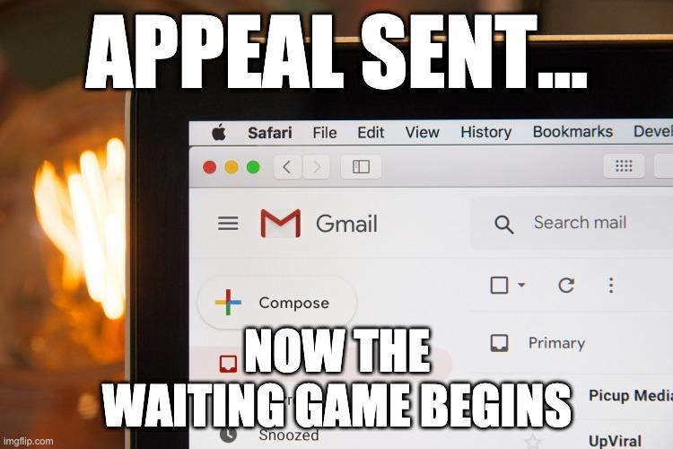 Appeal sent meme