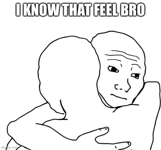 I Know That Feel Bro Meme | I KNOW THAT FEEL BRO | image tagged in memes,i know that feel bro | made w/ Imgflip meme maker