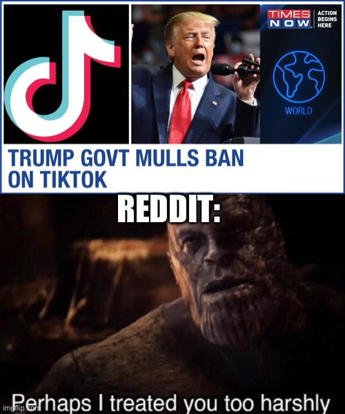 not all heroes wear capes. |  REDDIT: | image tagged in perhaps i treated you too harshly,thanos,donald trump,trump 2020 | made w/ Imgflip meme maker