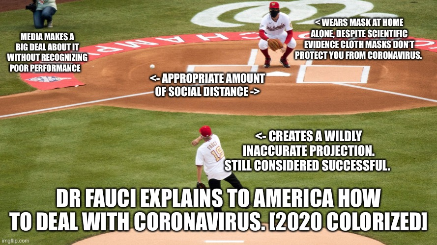 Dr Fauci S Wildly Inaccurate Projection Imgflip