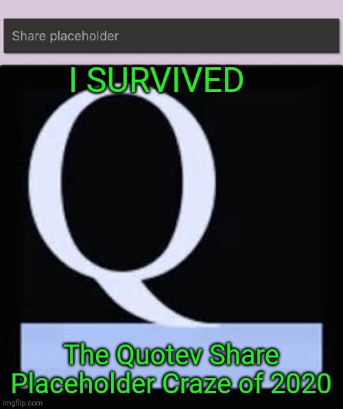 Yup |  I SURVIVED; The Quotev Share Placeholder Craze of 2020 | image tagged in quotev meme,quotev share placeholder | made w/ Imgflip meme maker
