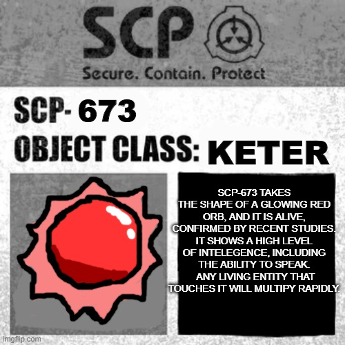Scp Label Template Thaumiel Neutralized Imgflip High quality scp foundation gifts and merchandise. scp label template thaumiel