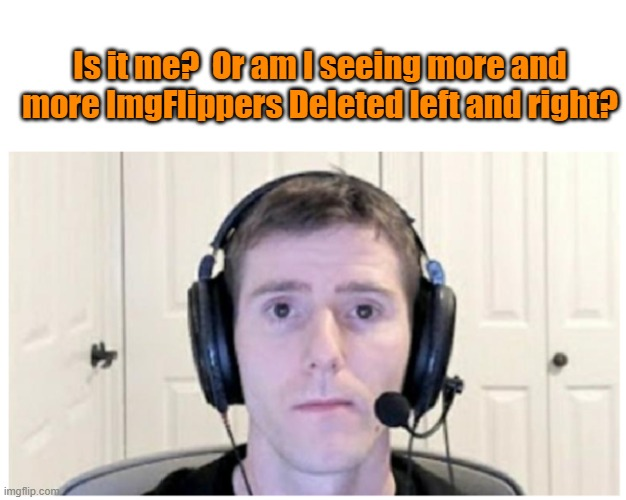 Sad Linus |  Is it me?  Or am I seeing more and more ImgFlippers Deleted left and right? | image tagged in sad linus,imgflip users,disappearing | made w/ Imgflip meme maker
