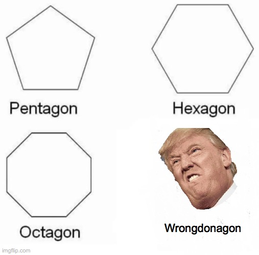 Angle tangle |  Wrongdonagon | image tagged in memes,pentagon hexagon octagon | made w/ Imgflip meme maker