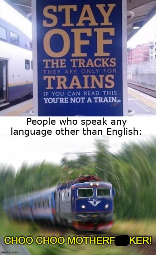 CHOO CHOO | image tagged in dank memes,funny memes,trains | made w/ Imgflip meme maker