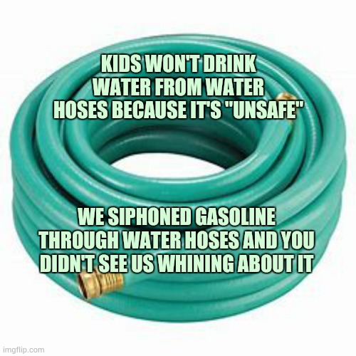 "When You Needed Gas For Your Three Wheelers And Dirt Bikes |  KIDS WON'T DRINK WATER FROM WATER HOSES BECAUSE IT'S ""UNSAFE""; WE SIPHONED GASOLINE THROUGH WATER HOSES AND YOU DIDN'T SEE US WHINING ABOUT IT 