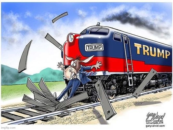 That is a beautiful train, and painted just right :) | image tagged in donald trump,trump train,trump 2020 | made w/ Imgflip meme maker