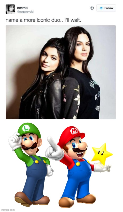 Keeping up with the mushrooms kingdom | image tagged in name a more iconic duo | made w/ Imgflip meme maker