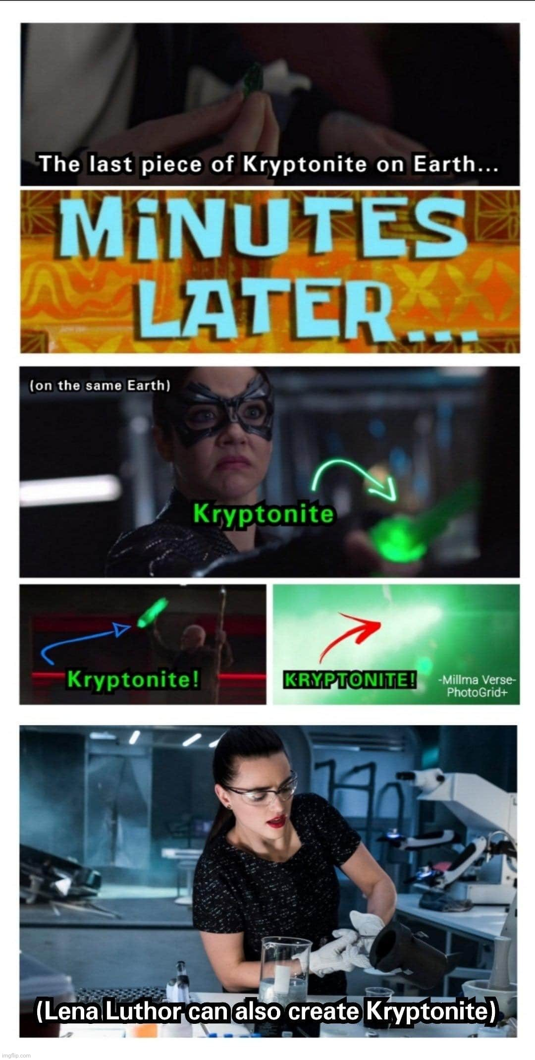 Kryptonite | image tagged in supergirl,superman,lex luthor,kryptonite,lena luthor,arrowverse | made w/ Imgflip meme maker