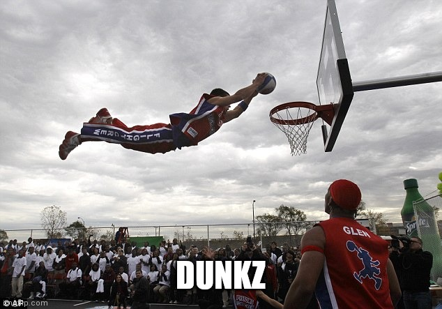 DUNKZ | image tagged in slam dunk | made w/ Imgflip meme maker