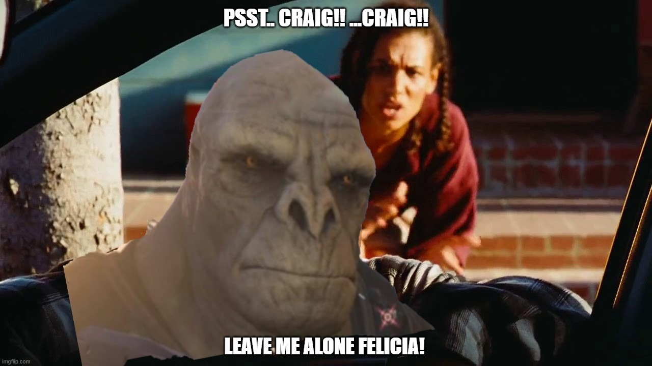 Craigs Friday |  PSST.. CRAIG!! ...CRAIG!! LEAVE ME ALONE FELICIA! | image tagged in gaming,xbox,halo craig,craig | made w/ Imgflip meme maker