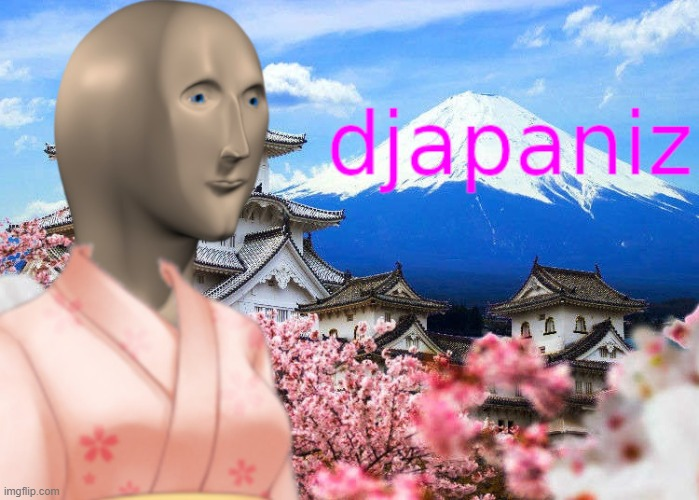 djapaniz (stonks variation) | image tagged in japanese,japan,weeaboo,weebs,weeb,stonks | made w/ Imgflip meme maker