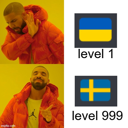 Level 1 Ukraine |  level 1; level 999 | image tagged in memes,drake hotline bling | made w/ Imgflip meme maker