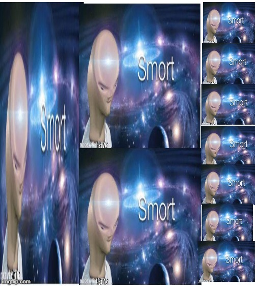 My iq be like | image tagged in blank white template,i am smort | made w/ Imgflip meme maker