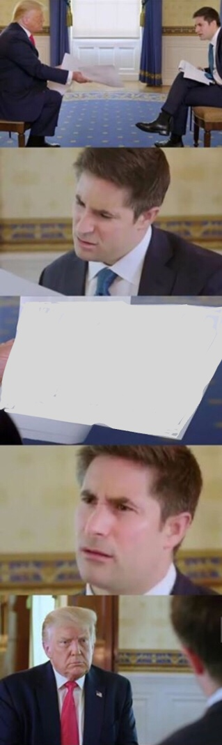 Trump interview Blank Meme Template