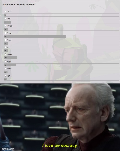 -w- | image tagged in i love democracy | made w/ Imgflip meme maker