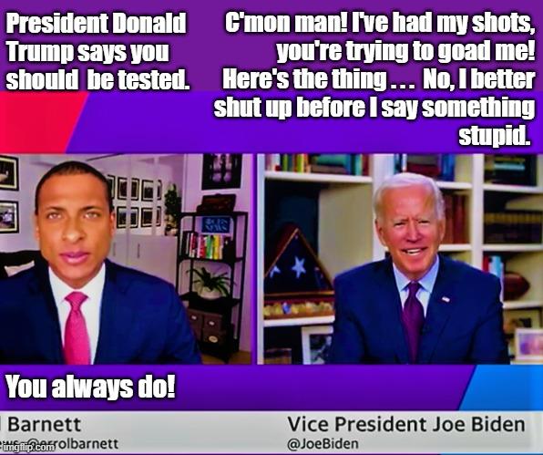 Joe Biden's basement interview - Imgflip