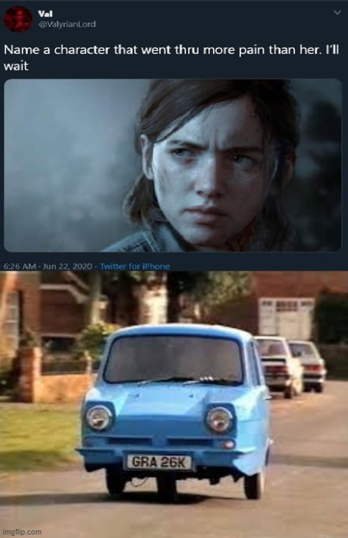 that one blue car | image tagged in name a character | made w/ Imgflip meme maker