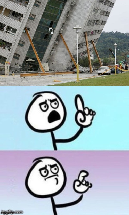 Leaning building | image tagged in memes,falling building held up with sticks,building,stick figure,like and share | made w/ Imgflip meme maker