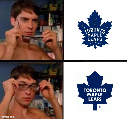 Peter Parker's Glasses | image tagged in peter parker's glasses,toronto maple leafs,nhl | made w/ Imgflip meme maker