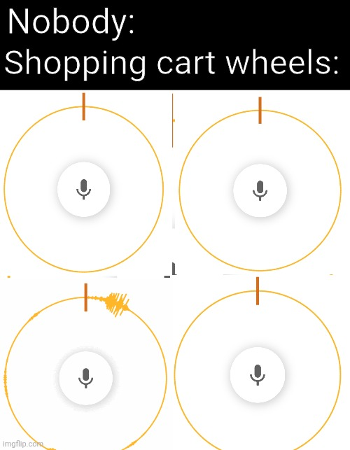 It took so long to make this, and I couldn't even make it a gif |  Nobody:; Shopping cart wheels: | image tagged in memes,shopping cart,shopping,childhood,parents | made w/ Imgflip meme maker