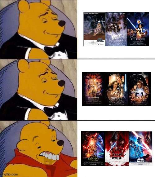 Star Wars Trilogies | image tagged in best better blurst,star wars,disney star wars,star wars prequels,star wars memes,memes | made w/ Imgflip meme maker