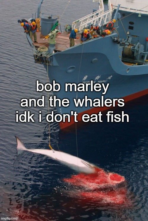 Is that the jazz guy? |  bob marley and the whalers idk i don't eat fish | image tagged in reggae,bob marley | made w/ Imgflip meme maker
