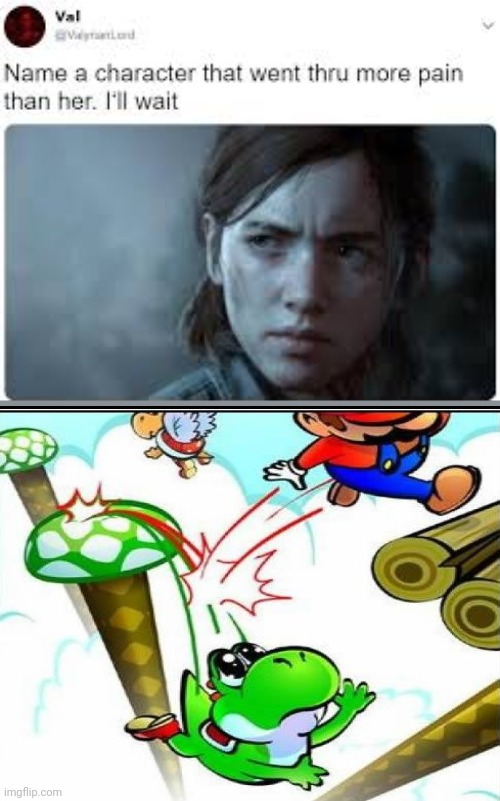 Justin for Yoshi | image tagged in tell me a character,yoshi,pain,funny meme,memes,betrayal | made w/ Imgflip meme maker