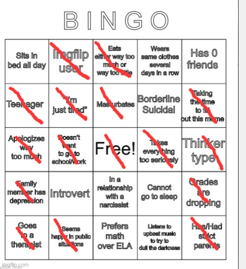 My depression bingo! | image tagged in memes,bingo,depression,depression bingo,masturbation | made w/ Imgflip meme maker