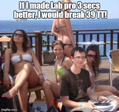 Priority Peter Meme | If I made Lab pro 3 secs better, I would break 39 TT!  | image tagged in memes,priority peter | made w/ Imgflip meme maker