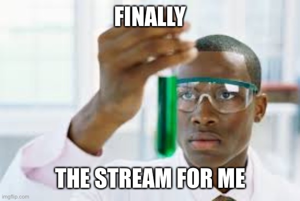 FINALLY |  FINALLY; THE STREAM FOR ME | image tagged in finally | made w/ Imgflip meme maker