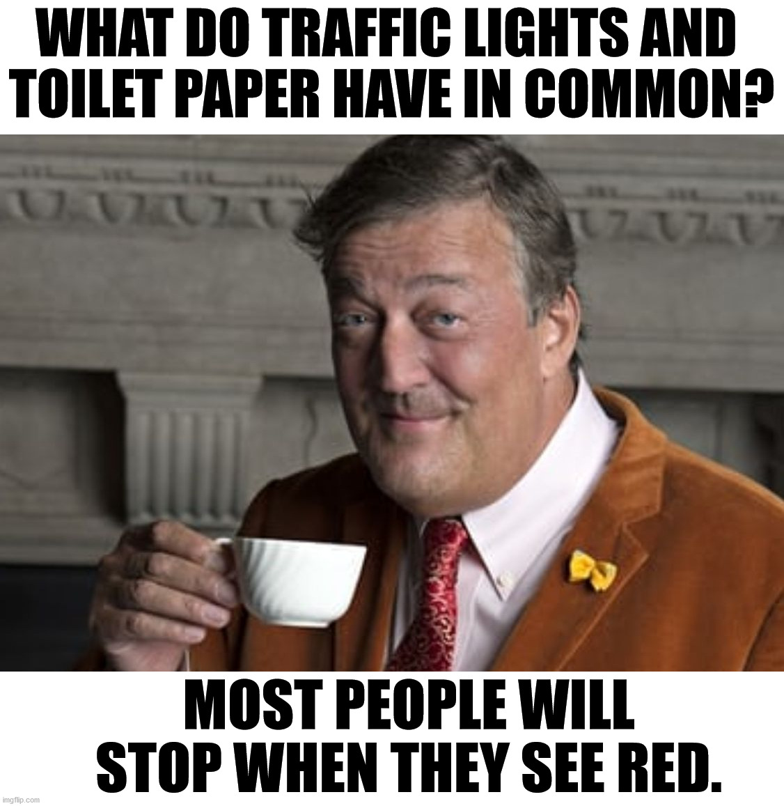 This meme makes me see red. |  WHAT DO TRAFFIC LIGHTS AND  TOILET PAPER HAVE IN COMMON? MOST PEOPLE WILL STOP WHEN THEY SEE RED. | image tagged in did you know,red,toilet paper,traffic light | made w/ Imgflip meme maker
