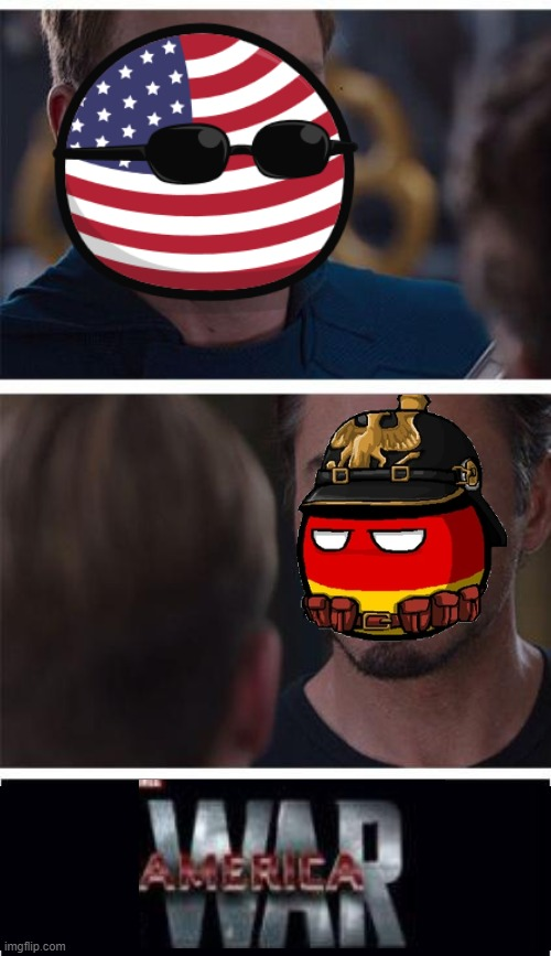 America War | image tagged in memes,marvel civil war 1,countryballs,ww1 | made w/ Imgflip meme maker