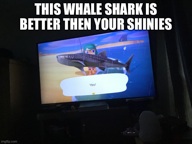 Oervovovovovoovov |  THIS WHALE SHARK IS BETTER THEN YOUR SHINIES | made w/ Imgflip meme maker