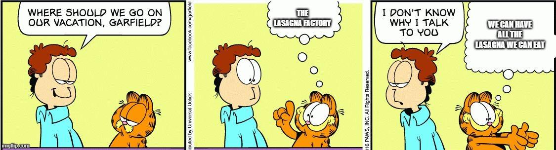 Garfield Comic Vacation Imgflip