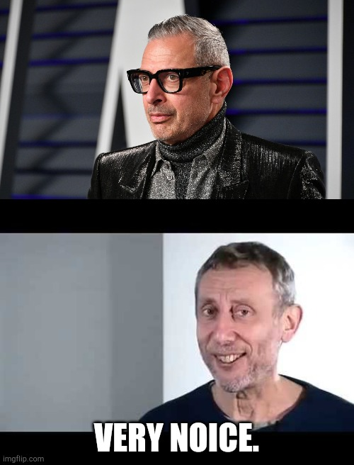 Jeff goldblum. |  VERY NOICE. | image tagged in noice,sexy,funny,memes,jeff goldblum | made w/ Imgflip meme maker