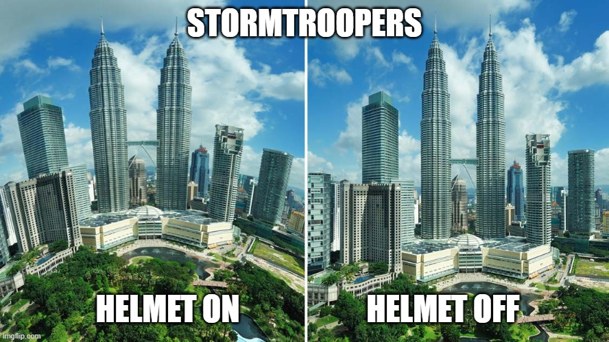 Stormtroopers |  STORMTROOPERS; HELMET ON                     HELMET OFF | image tagged in geek,nerd,star wars,stormtrooper,funny | made w/ Imgflip meme maker