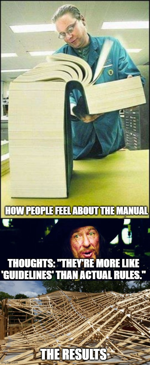 "Instruction manuals; can't live with them, can't live without them |  HOW PEOPLE FEEL ABOUT THE MANUAL; THOUGHTS: ""THEY'RE MORE LIKE 'GUIDELINES' THAN ACTUAL RULES.""; THE RESULTS 