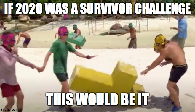 Brutality |  IF 2020 WAS A SURVIVOR CHALLENGE; THIS WOULD BE IT | image tagged in survivor,outwit outplay outlast,2020 | made w/ Imgflip meme maker