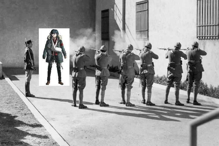 firing squad | image tagged in firing squad,danganronpa | made w/ Imgflip meme maker