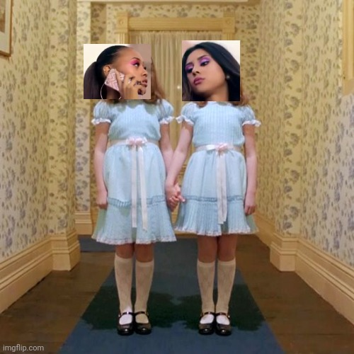 Gucci Twins | image tagged in twins from the shining,gucci,gucci gang,twin sisters | made w/ Imgflip meme maker