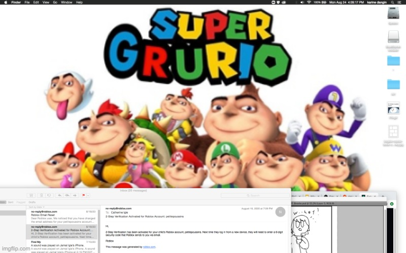 i moved the stuff in my computer and found a masterpiece. | image tagged in computer,computers,mario,gru meme | made w/ Imgflip meme maker