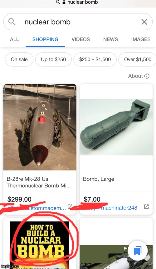I know this isn't fun but I don't think this is fun | image tagged in atomic bomb,cheap,for sale | made w/ Imgflip meme maker
