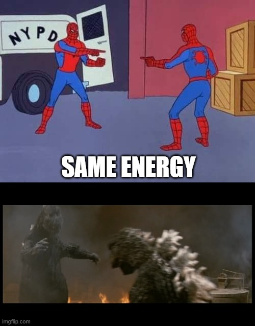 looks familiar |  SAME ENERGY | image tagged in spiderman mirror | made w/ Imgflip meme maker