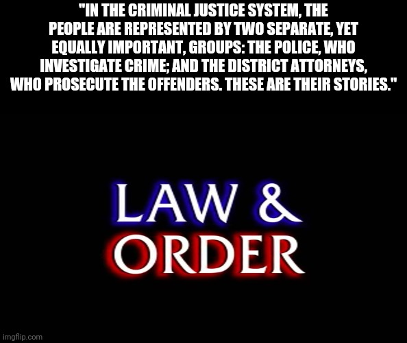 """In the criminal justice system"" 