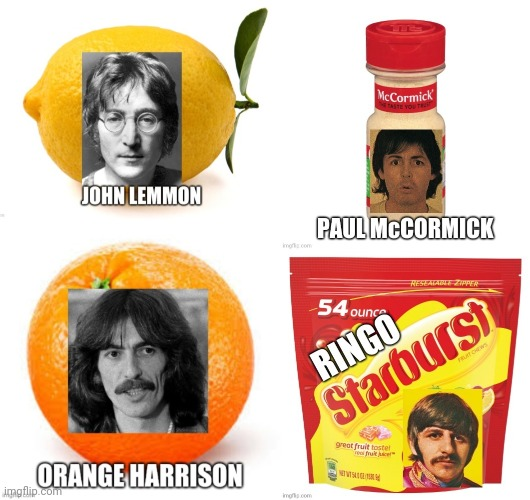 Grocery store Beatles | image tagged in the beatles,grocery store,rock,funny | made w/ Imgflip meme maker