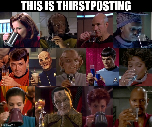 Star Trek Thirstposting |  THIS IS THIRSTPOSTING | image tagged in startrek thirstposting,star trek,star trek the next generation,star trek deep space nine,thirstposting | made w/ Imgflip meme maker
