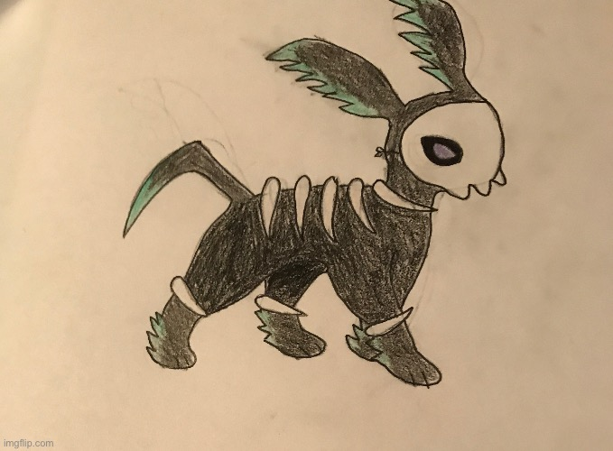 image tagged in hexeon,spooky,halloween,pokemon,fakemon | made w/ Imgflip meme maker