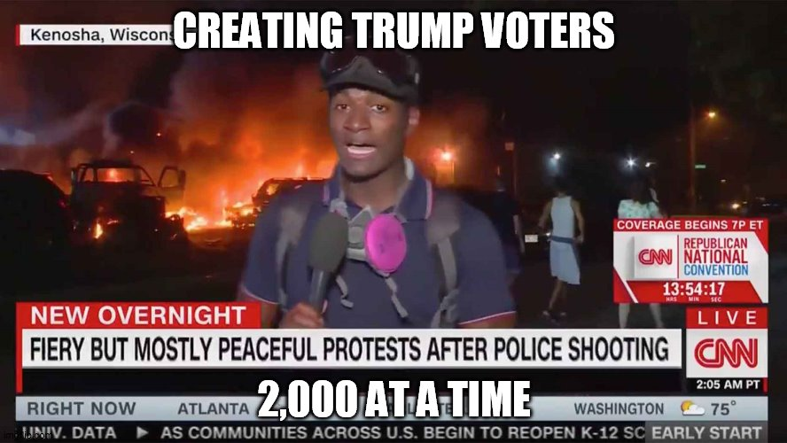 trump voters |  CREATING TRUMP VOTERS; 2,000 AT A TIME | image tagged in donald trump | made w/ Imgflip meme maker